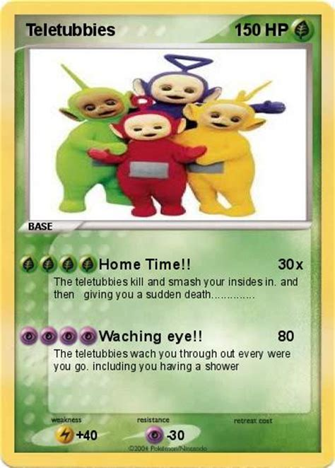 teletubbies cards pok 233 mon teletubbies 8 8 home time my card