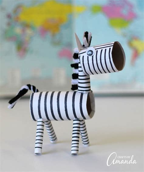 zebra craft for cardboard zebra a great recycled project will