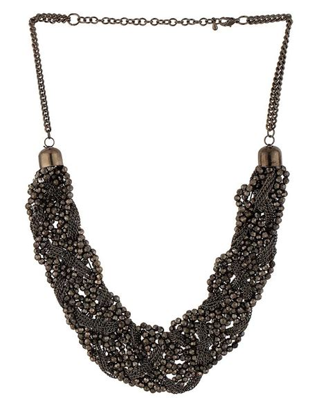 multi layered beaded necklace buy beautiful black multi layered beaded necklace