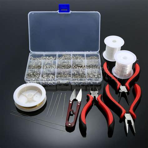 silver jewelry kits jewelry starter kits pliers chain tools set