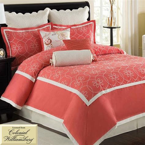 coral comforter sets coral and bedding comforter coral bedding