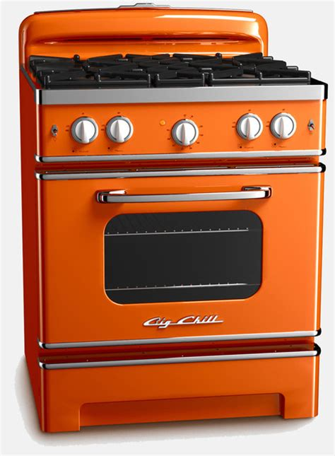 Dining Room Tables Retro vintage inspired retro stove orange contemporary