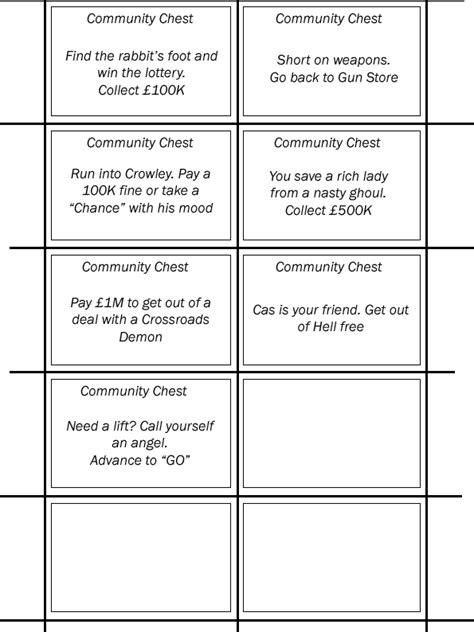 make your own monopoly chance cards supernatural monopoly cards 1 community by much
