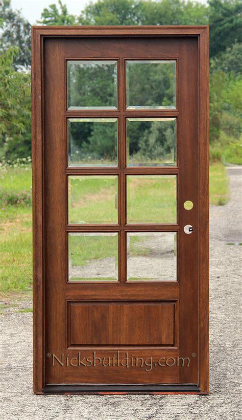 exterior glass door exterior mahogany single doors
