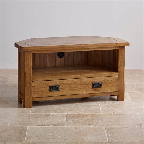 solid oak tv cabinet original rustic corner tv cabinet in solid oak