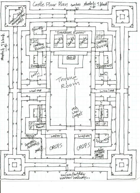 castle floor plans minecraft minecraft blueprints higuchi castle floor map by