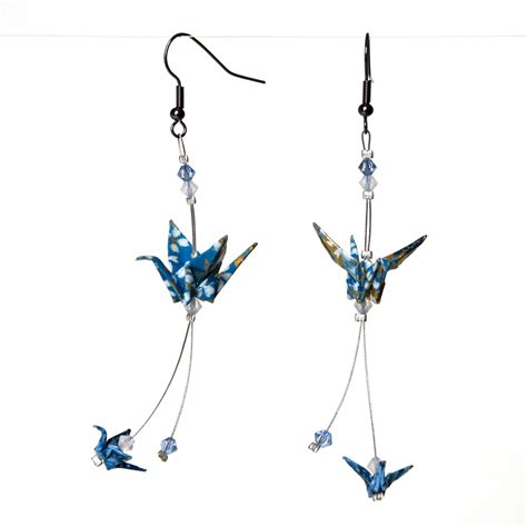 how to make origami crane earrings origami crane earrings by walking cripple on deviantart