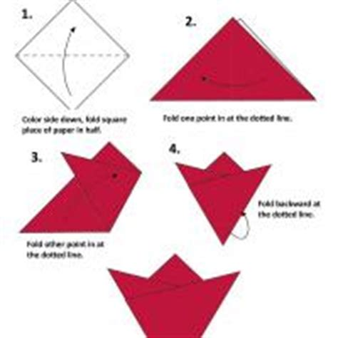 simple origami flower printable flower origami