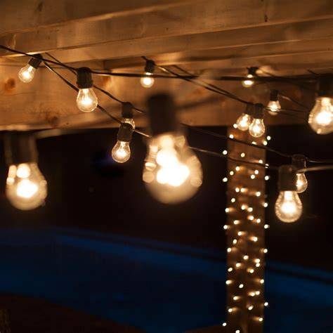 decorative patio string lights outdoor patio lighting home depot roselawnlutheran