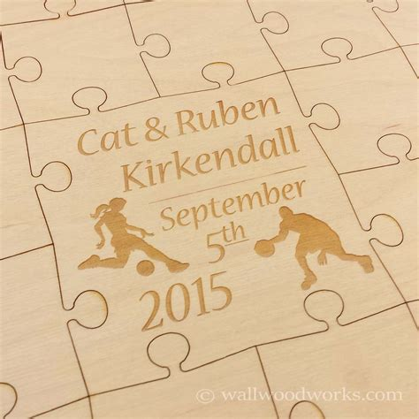 woodworks company sports wedding guest book puzzle wall woodworks company