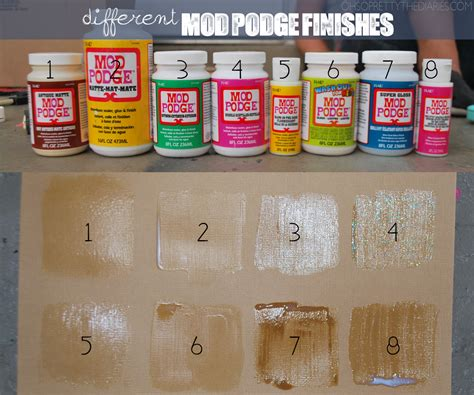 mod podge crafts for what the different finishes of mod podge look like
