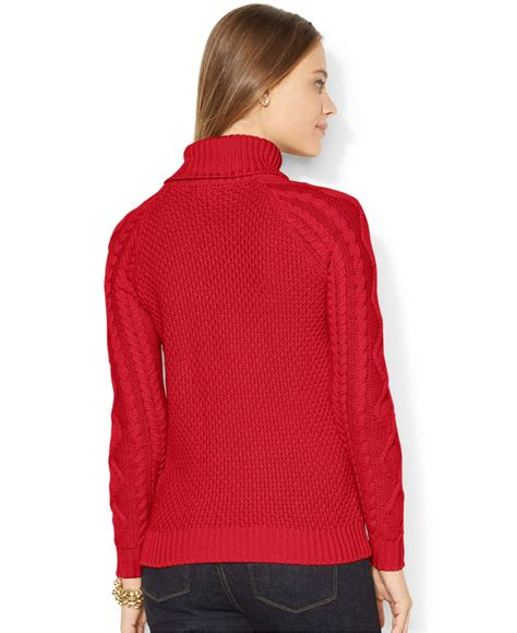 knit turtleneck sweater by ralph cable knit turtleneck sweater in