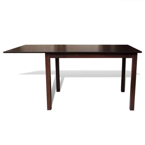 solid wood dining table vidaxl co uk solid wood brown extending dining table 150 cm