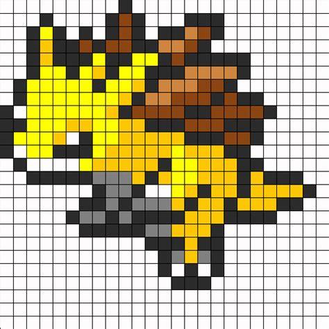 perler bead grid sandslash sprite perler bead pattern bead