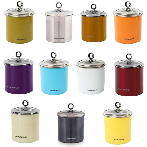 storage canisters kitchen morphy richards 1 7 litre stainless steel large kitchen storage jar canister uk ebay