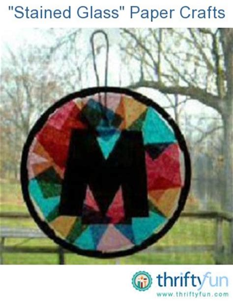 stained glass paper craft quot stained glass quot paper crafts thriftyfun