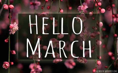for march hello march all i breathe