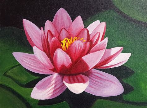 acrylic painting water lilies floral beginner acrylic painting class quot water quot at