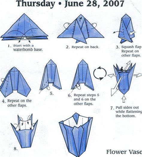 simple origami vase flower vase origami