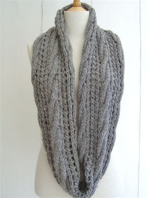 beginner lace scarf knitting pattern knitting pattern infinity scarf with cable lace easy beginner