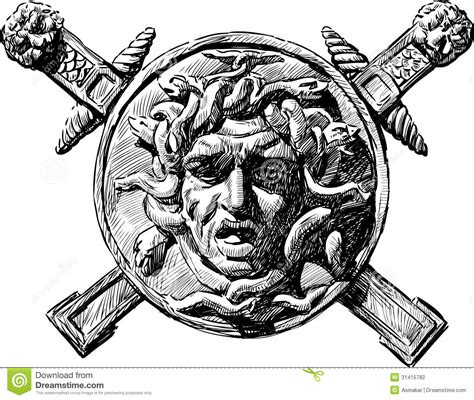 head of medusa the gorgon stock photography image 31415782