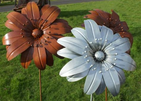 metal garden flowers outdoor decor metal garden flowers smalltowndjs