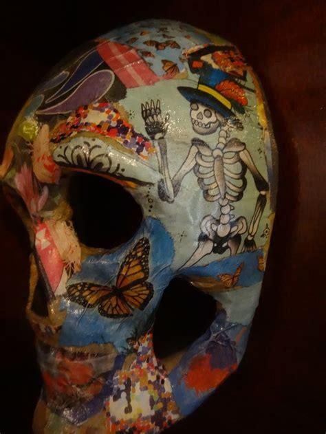 decoupage mask skull mask decoupage skulls