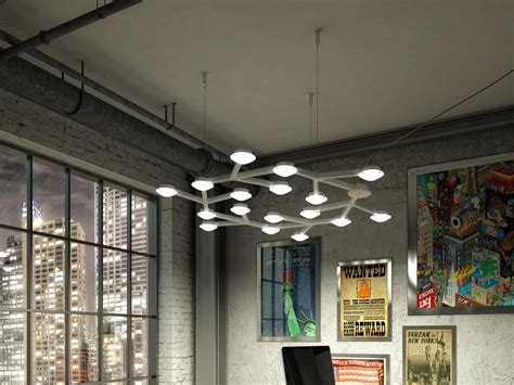 led net line 66 ceiling led net line lada a sospensione collezione led net by