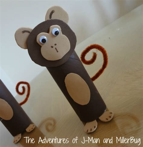 monkey craft craft time toddler toilet paper roll monkeys the