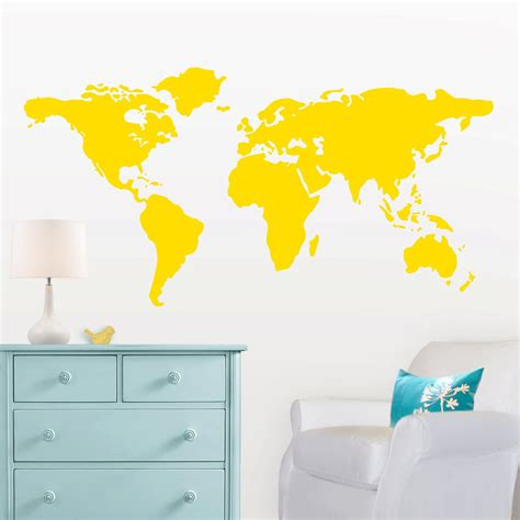 large world map wall sticker large world map wall decal with dots and to