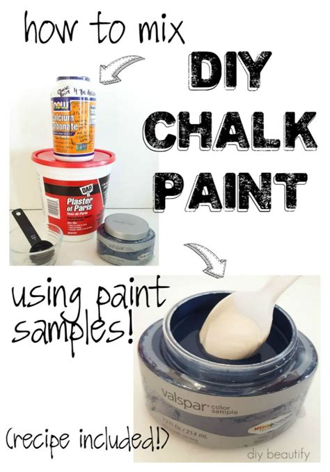 chalk paint to make how to make diy chalk paint using store sles diy beautify