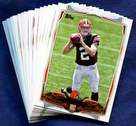 how to make a football card 2014 topps cleveland browns nfl football card team set
