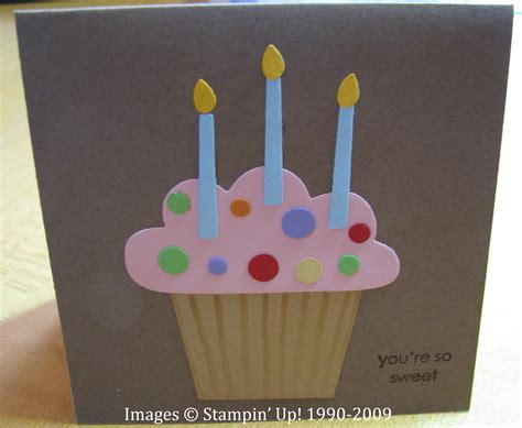 how to make a birthday card birthday cupcake card sting with