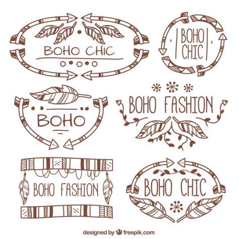 fashion ornaments boho fashion ornaments vector free