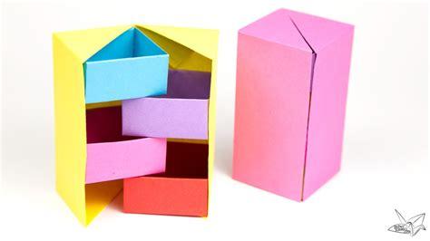origami secret box origami secret stepper box tutorial paper kawaii