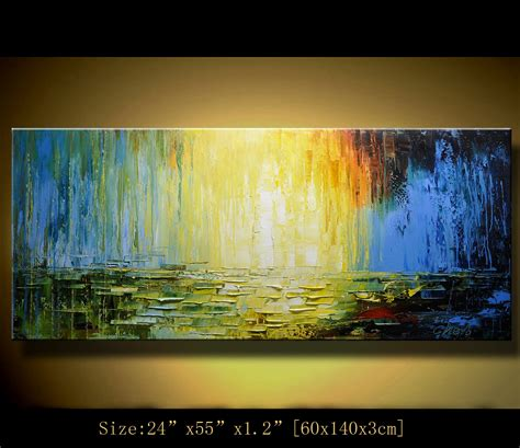 original abstract painting modern landscape painting palette
