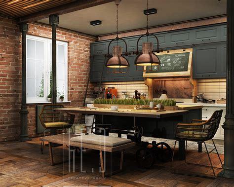 industrial home interior design industrial kitchen decor interior design ideas