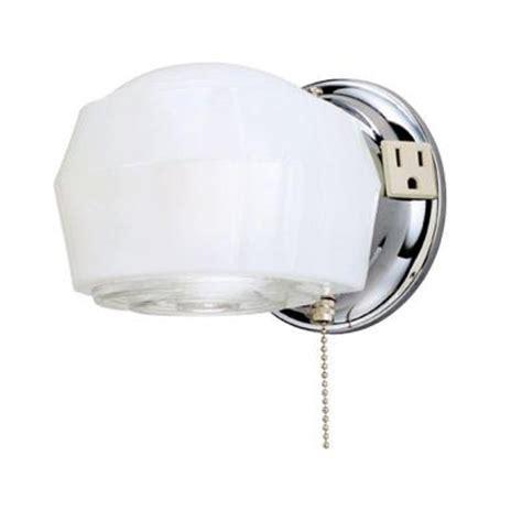 pull chain light fixture home depot westinghouse 1 light chrome interior wall fixture 6640200