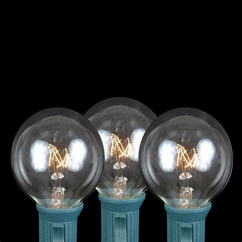 string lights with bulbs clear g40 globe outdoor string light set on brown