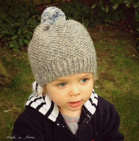 toddlers knitting patterns free made in home toddler pompom beanie hat a free pattern