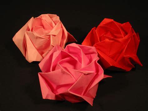 rosa de origami origame de rosa imagui