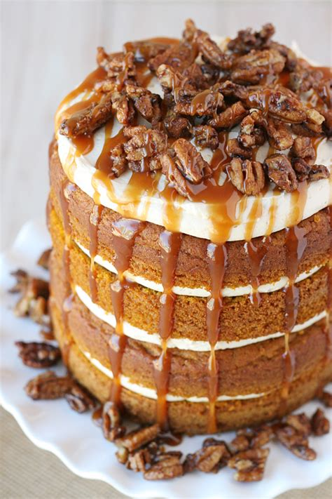 Pumpkin Salted Caramel Cake ? Glorious Treats