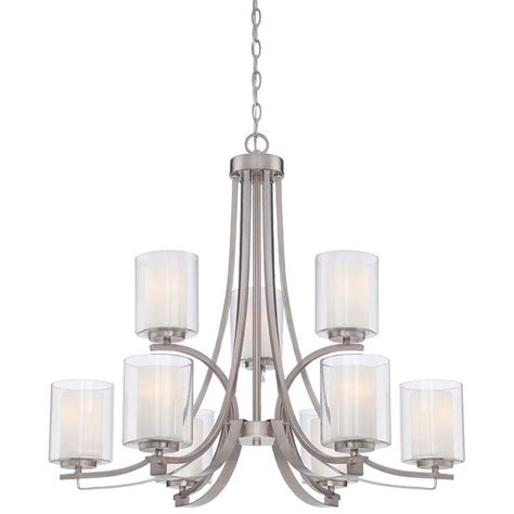 minka lavery chandelier minka lavery parsons studio 9 light brushed nickel