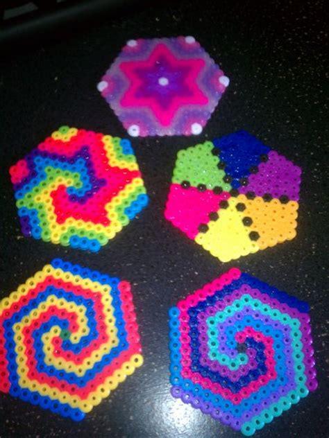 cool perler free cool perler bead hexagons earrings ornaments