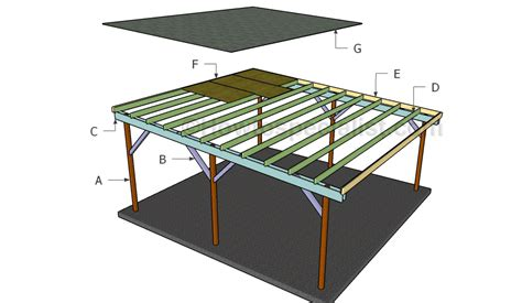 flat roof carport plans howtospecialist how to