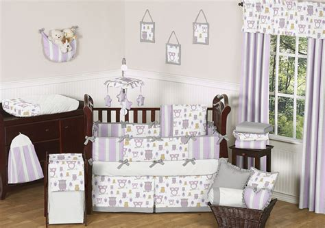 purple owl crib bedding lavender gray purple and white owl baby grey crib