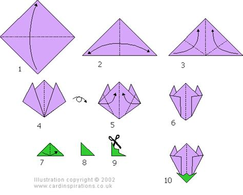 Easy Origami Flower Step By Step Tutorial