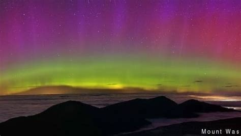 mt lights borealis spotted from mount washington and caribou