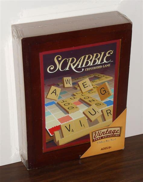 scrabble checker hasbro scrabble crossword vintage collection 01336 wooden