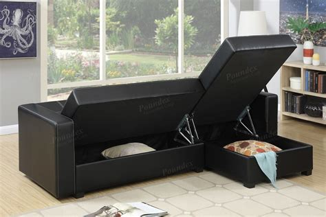 black sectional sofa bed black faux leather storage sectional sofa bed